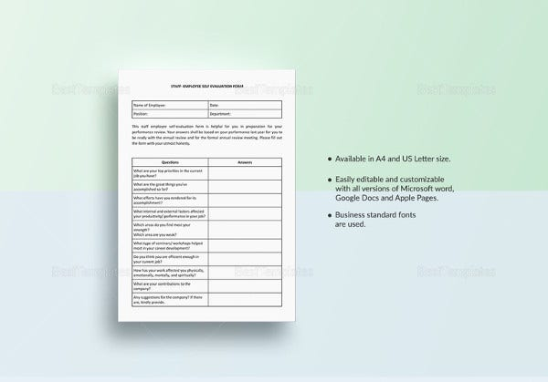 staff-employee-self-evaluation-template