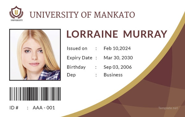 student-id-card-template