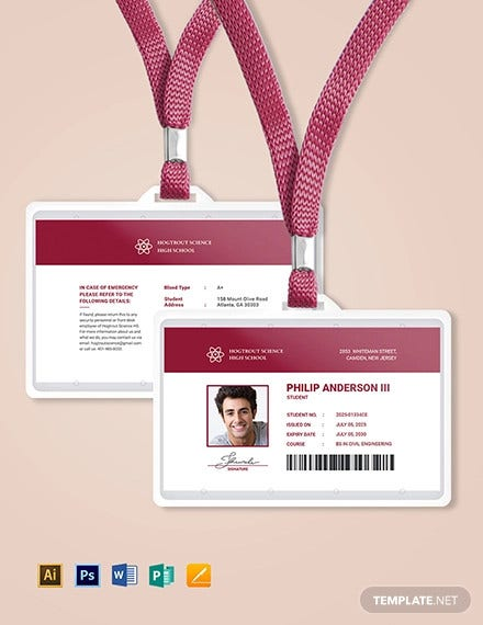 student id card template3