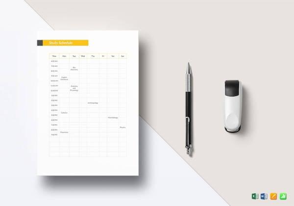 study-schedule-template