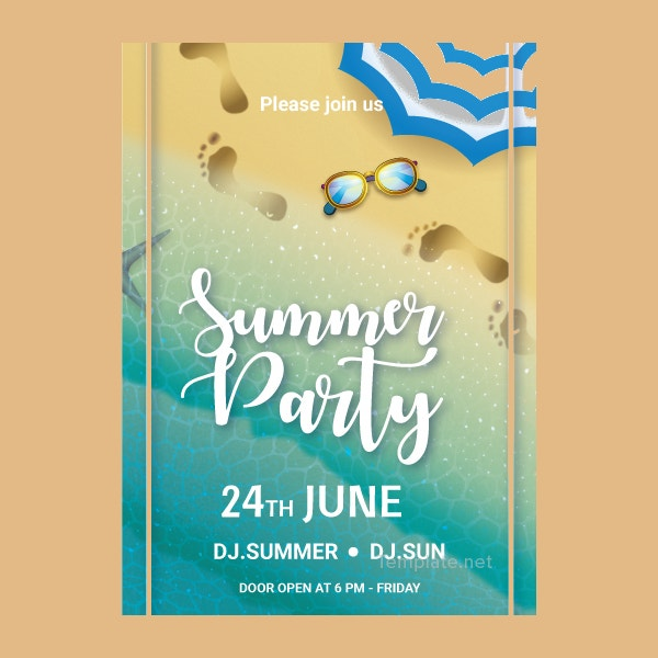 3 free pool party invitation templates printable swimming free