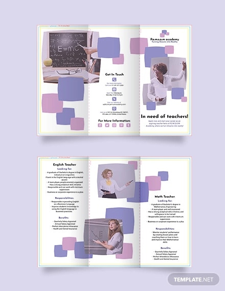 teacher tri fold brochure template1