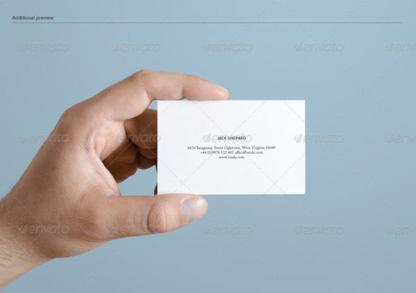 textured business card mock up