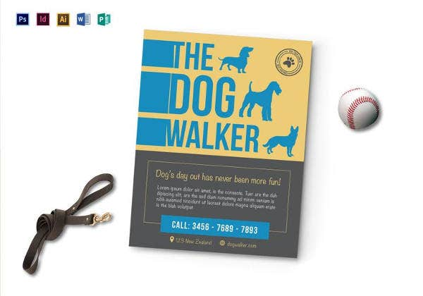 the dog walker flyer template
