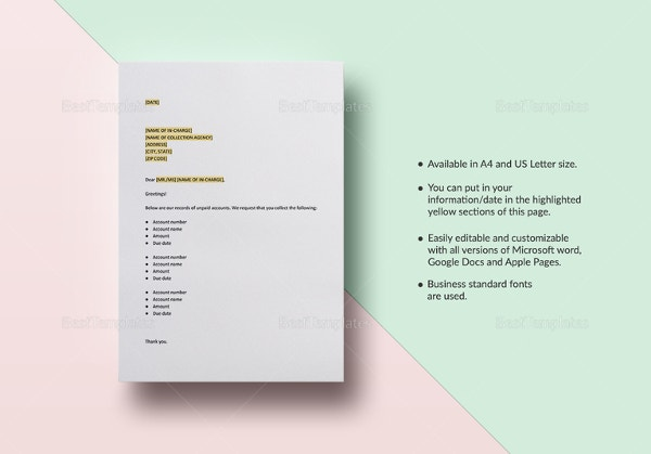 collection letter template microsoft word