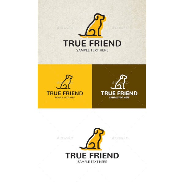 true friend logo template