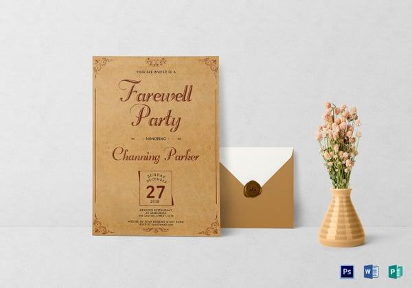 vintage farewell party invitation