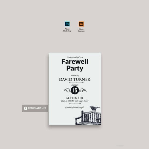 vintage farewell party invitation1
