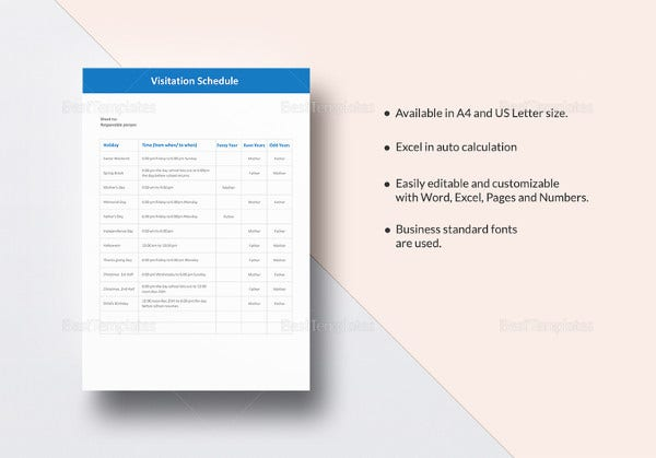 visitation-schedule-template