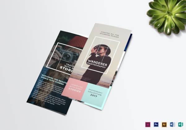 wanderer photography brochure template