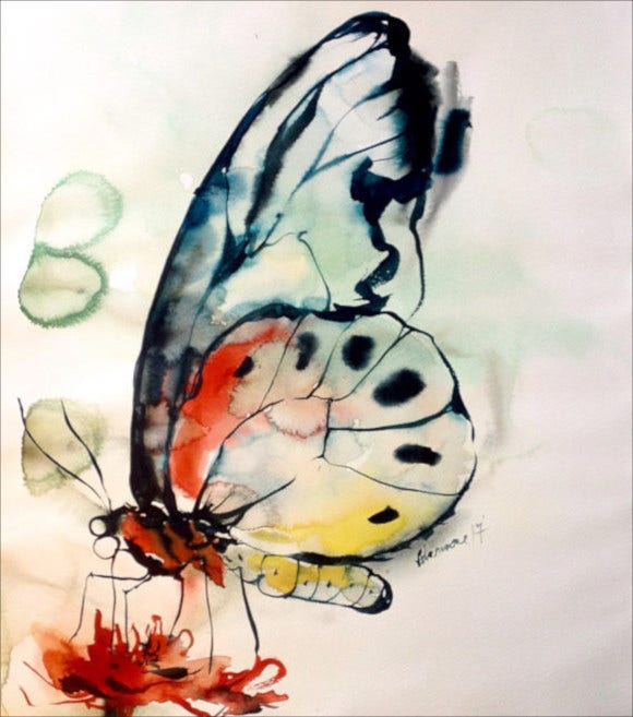 watercolor butterfly painting1