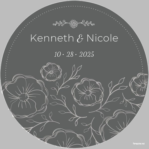 wedding cd label template1