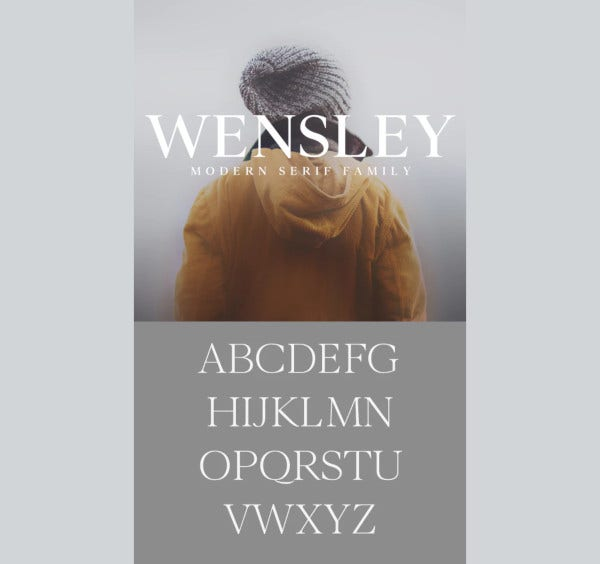 wensley modern serif font family1
