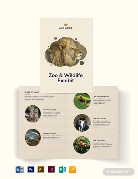 zoo bi fold brochure template