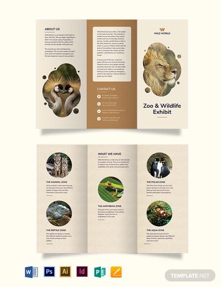 zoo tri fold brochure template
