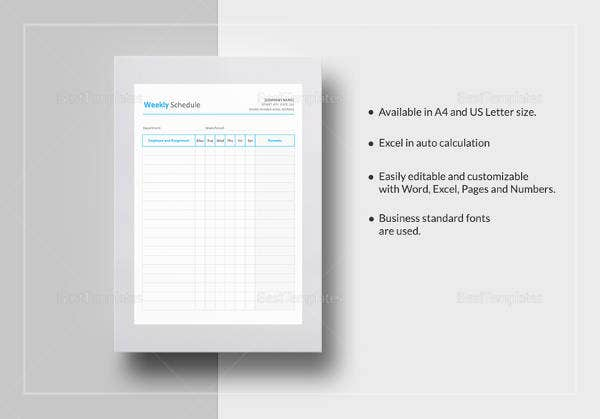Fee Schedule Template 13 Free Word Pdf Documents Download