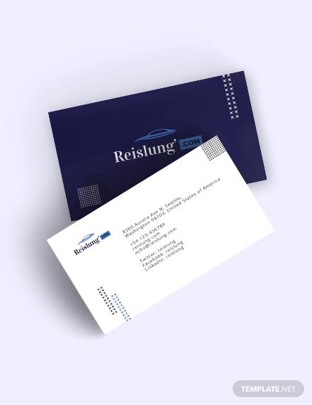 elegant auto dealer business card