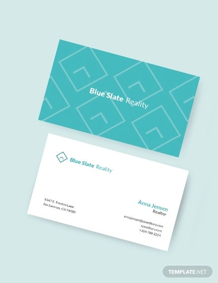 elegant realtor business card