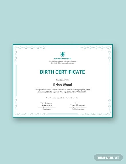 free birth certificate