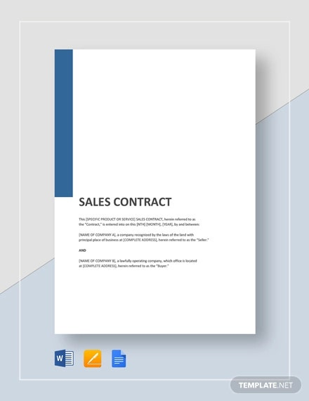 general sales contract