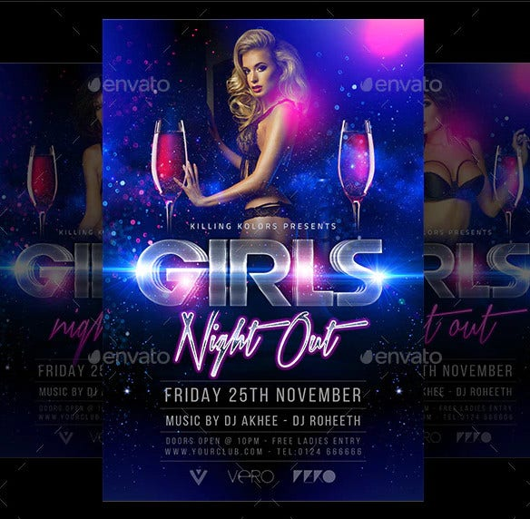 girls night flyer