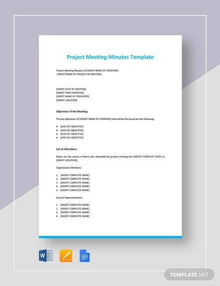 Project Management Meeting Notes Template from images.template.net