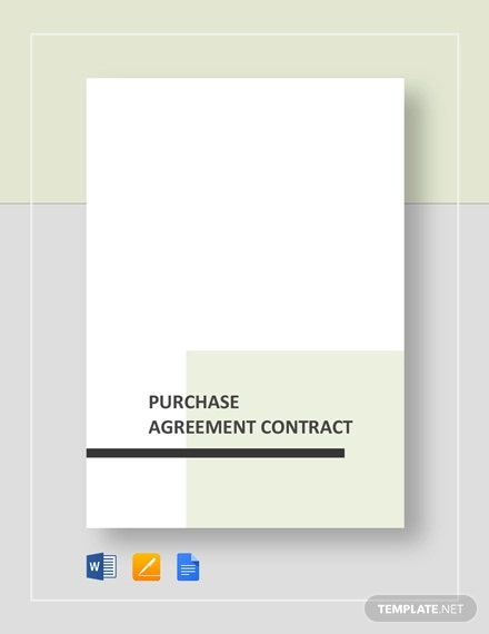 purchase agreement contract form