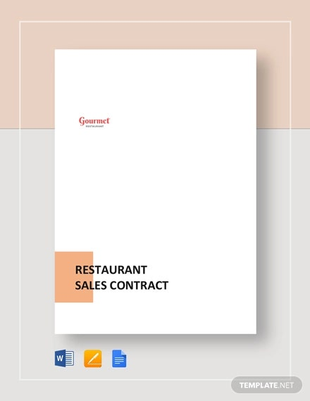 Sample Restaurant Sales Contract Template