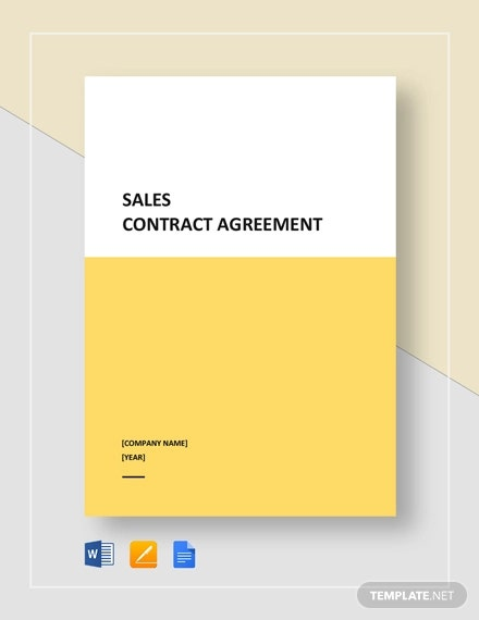 sales contract agreement