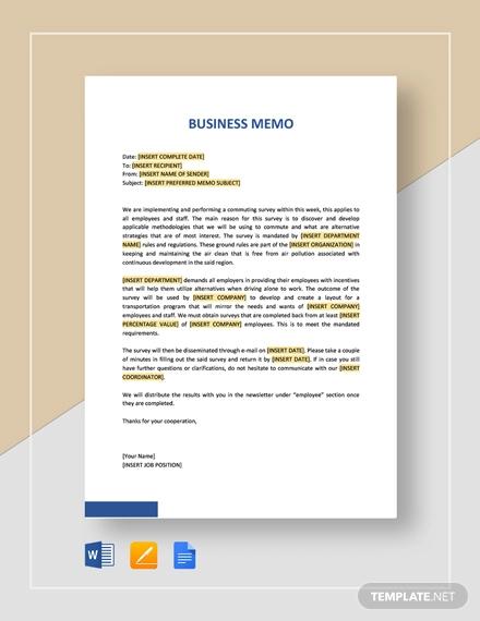 simple business memo