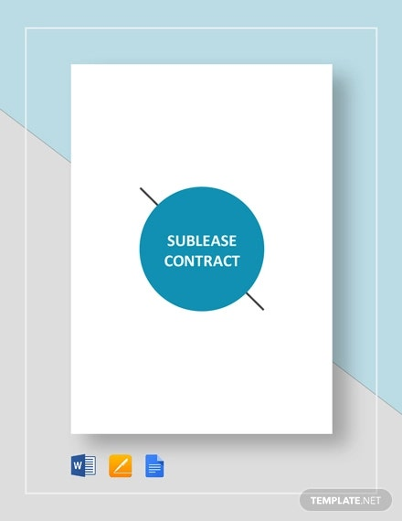 sublease contract