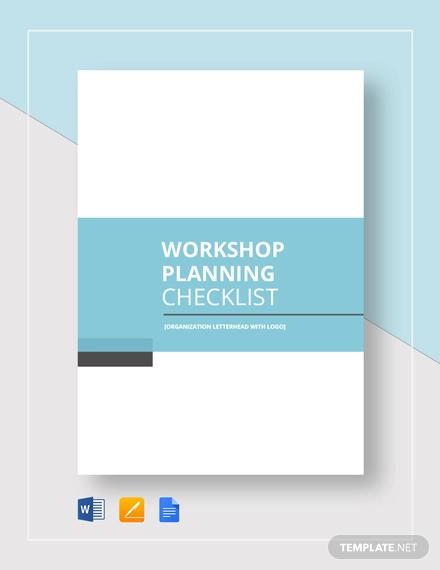 workshop planning checklist