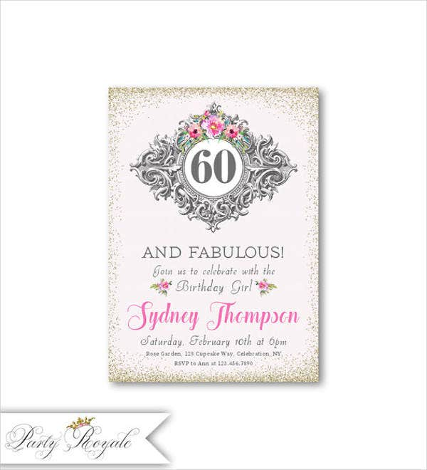 elegant birthday dinner invitation