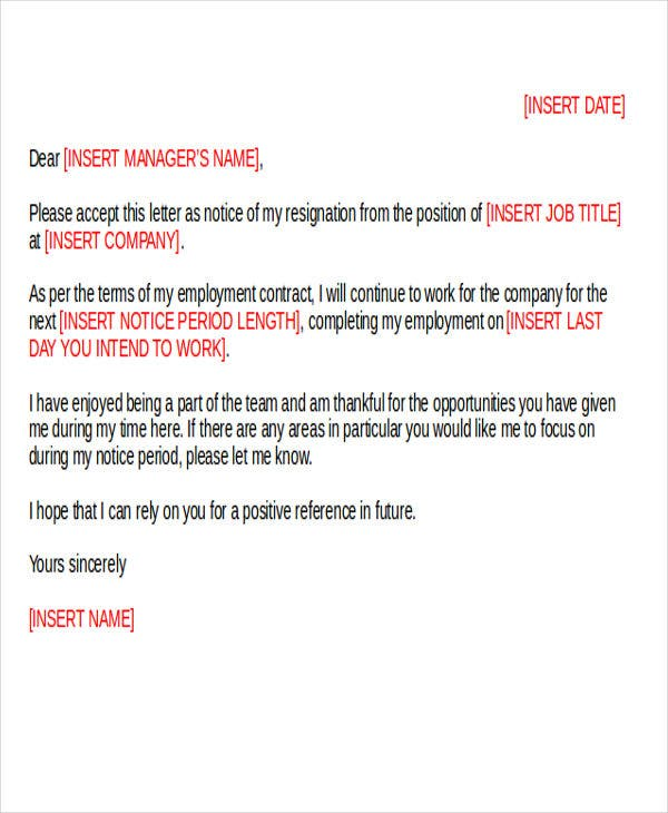 36 resignation letter template in doc free premium templates download spiritdancerdesigns Image collections