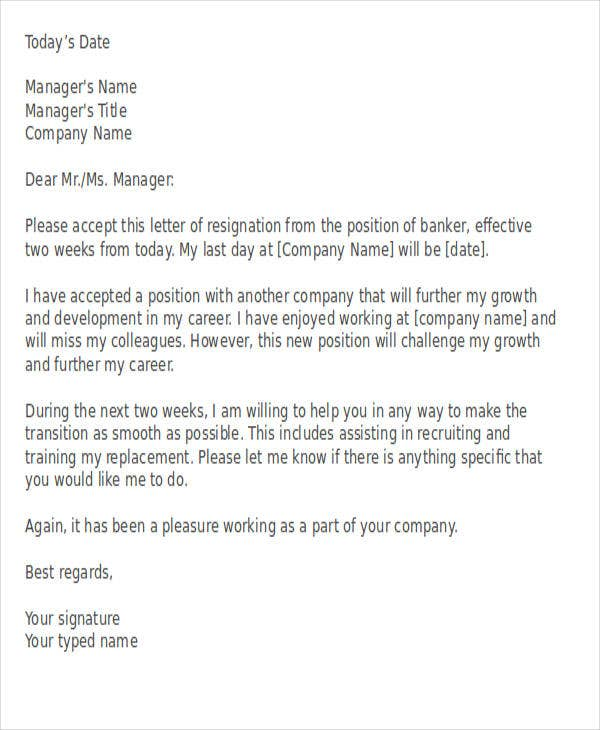 41 resignation letter templates in doc free premium
