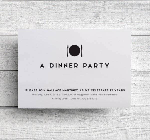 Formal Dinner Invitation  Free Sample Example Format Download