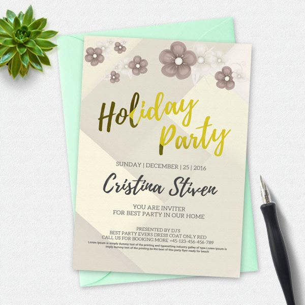 Corporate Holiday Party Invitation  Corporate Party Invitation Template