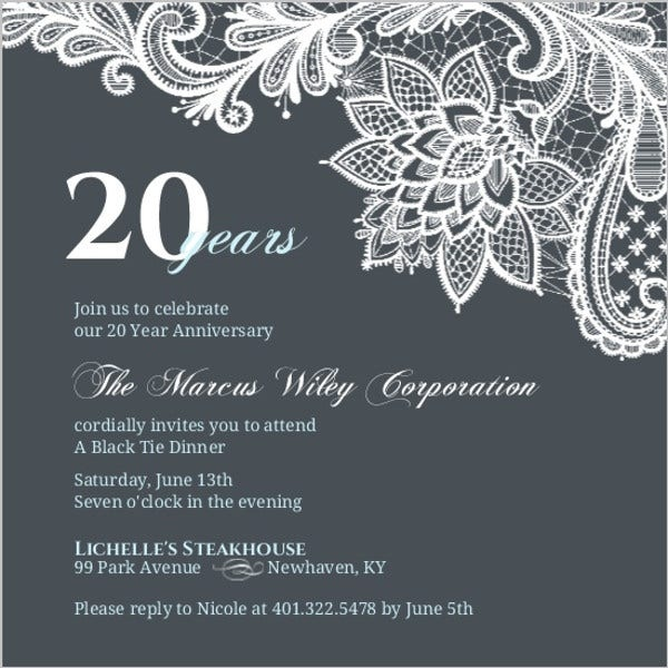 corporate anniversary party invitation1