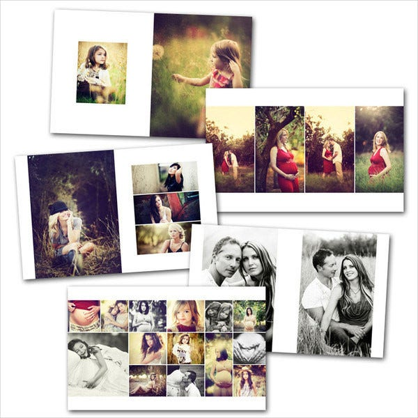 Vertical Wedding Album Template