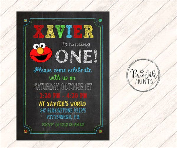 chalkboard-1st-birthday-invitation