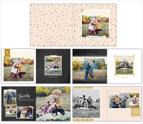 Vertical Family Album Template