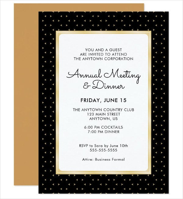 53 dinner invitation designs free premium templates annual dinner invitation card stopboris Choice Image