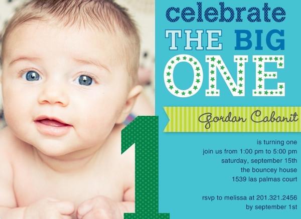 -Boy 1st Birthday Invitation