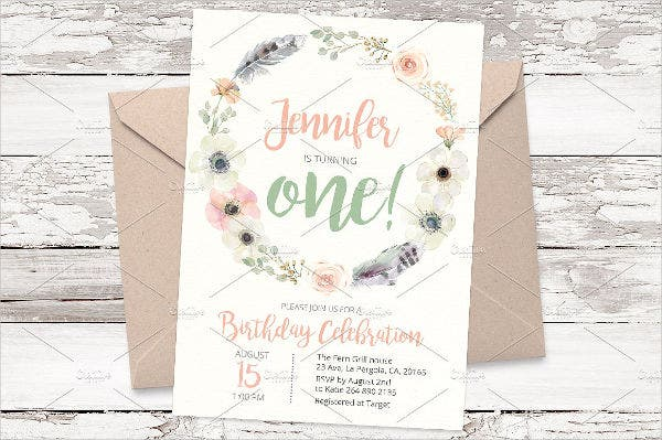 1st birthday invitation card3