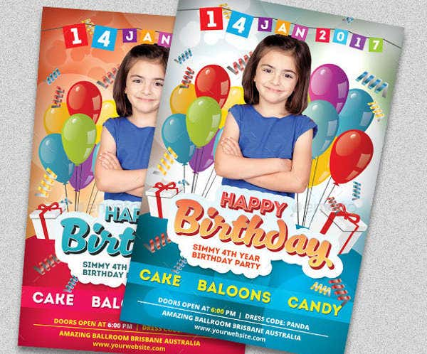 birthday party invitation card6