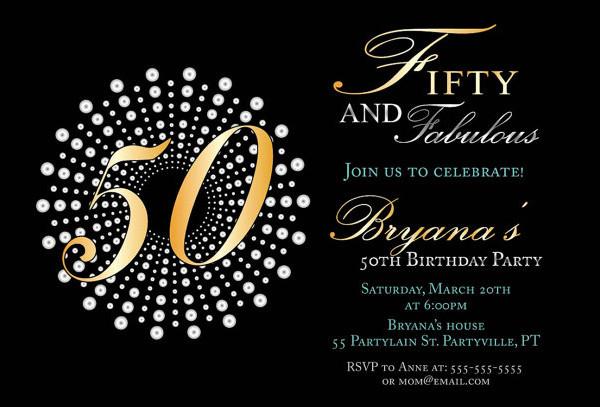 -50th Birthday Party Invitation