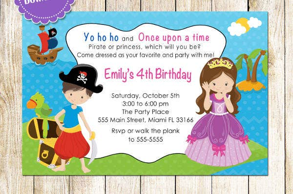 personalized kids birthday invitation