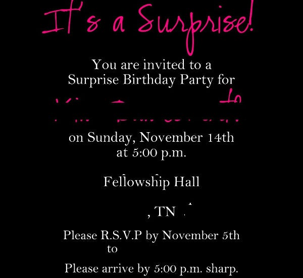 free printable surprise birthday invitation