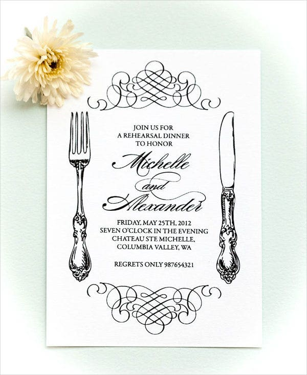 sample rehearsal dinner invitation