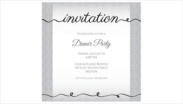 44 Dinner Invitation Designs – Dinner Party Invitation Sample